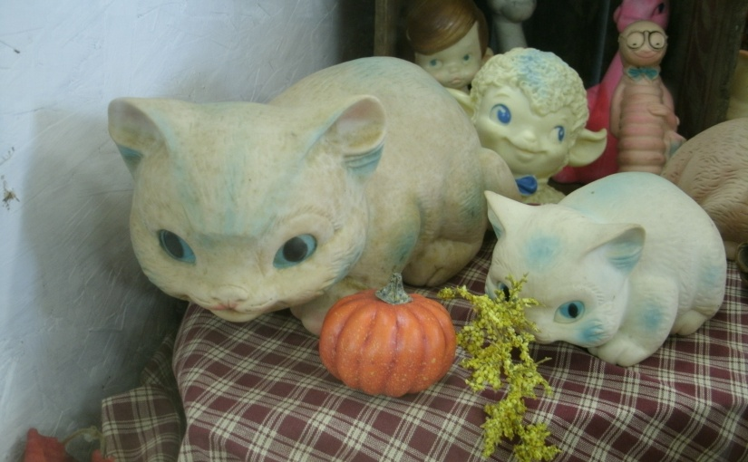 Unique Cats – and Other Creatures –  Vintage Playthings Made by Ashland Rubber Products