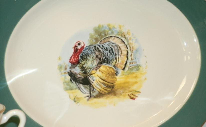Fun Vintage Find – TurkeyPlatter