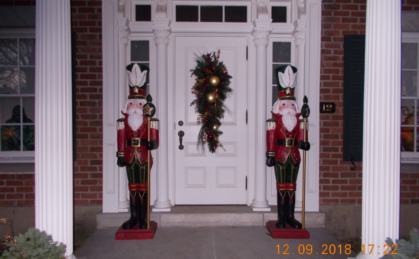 Majestic Nutcrackers Guard the Entrance of One of Milan's Historic Homes