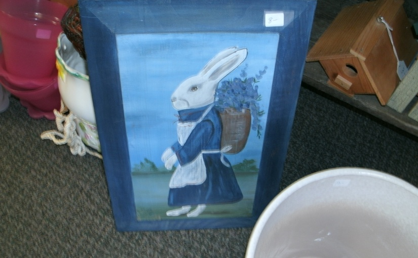 Fun Thrift Shop Find – Bunny in Blue