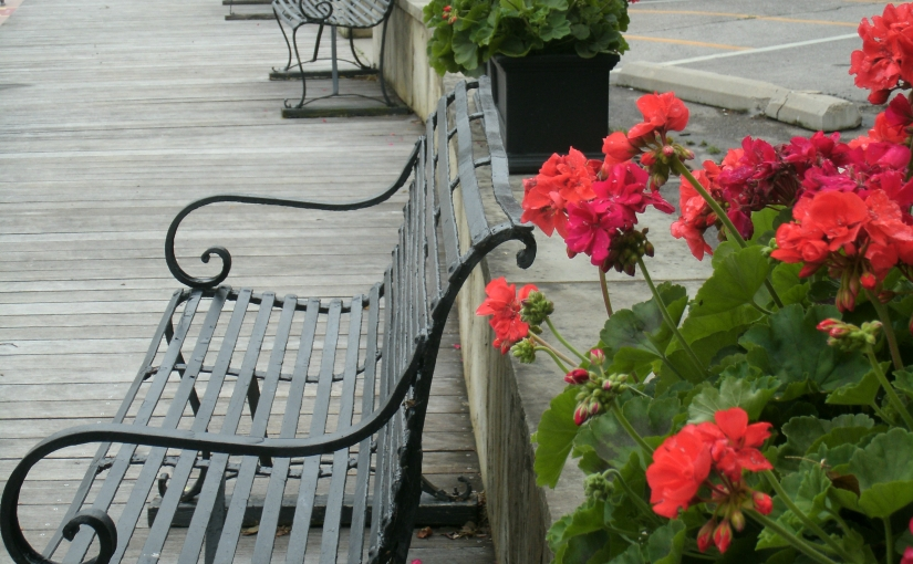 Dockside Seating in a Lovely Little LakesideVillage