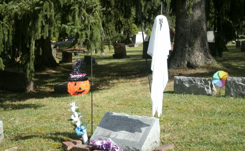 Halloween Celebration in the Local Cemetery