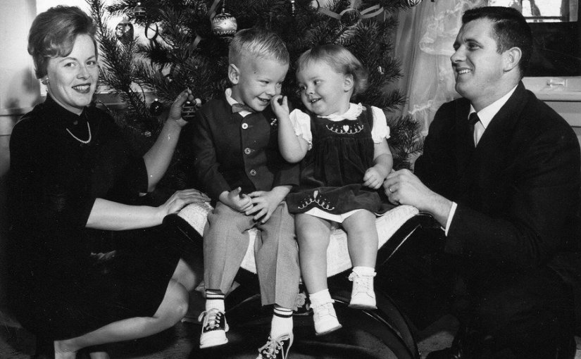 Images of the Mid-Twentieth Century A Family Dressed forChristmas