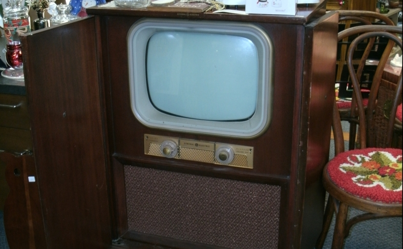 Vintage GE TV in it's Own Console