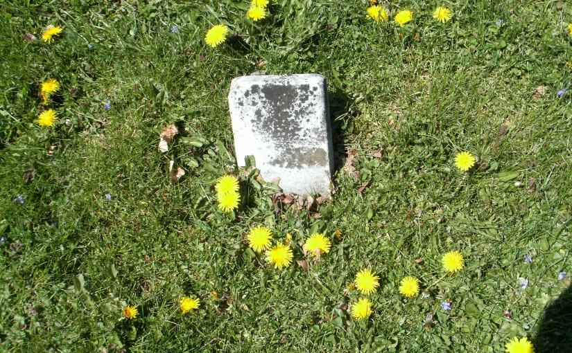 An April Stroll in a Rural BurialGround