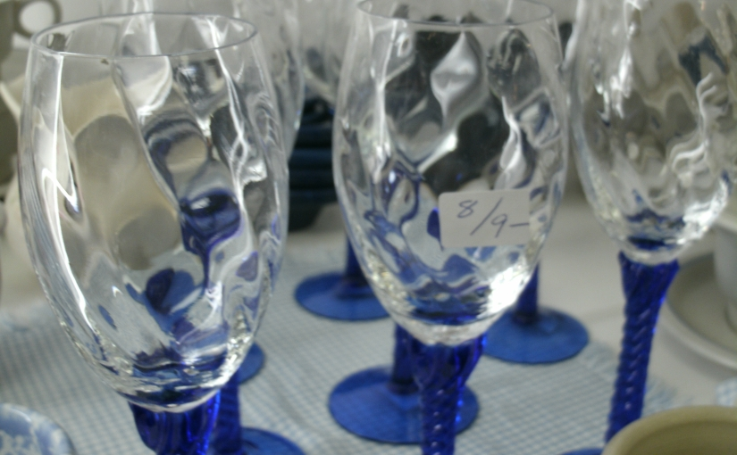 Beautiful Blue Wine Glasses – Great for Winter Desserts Too